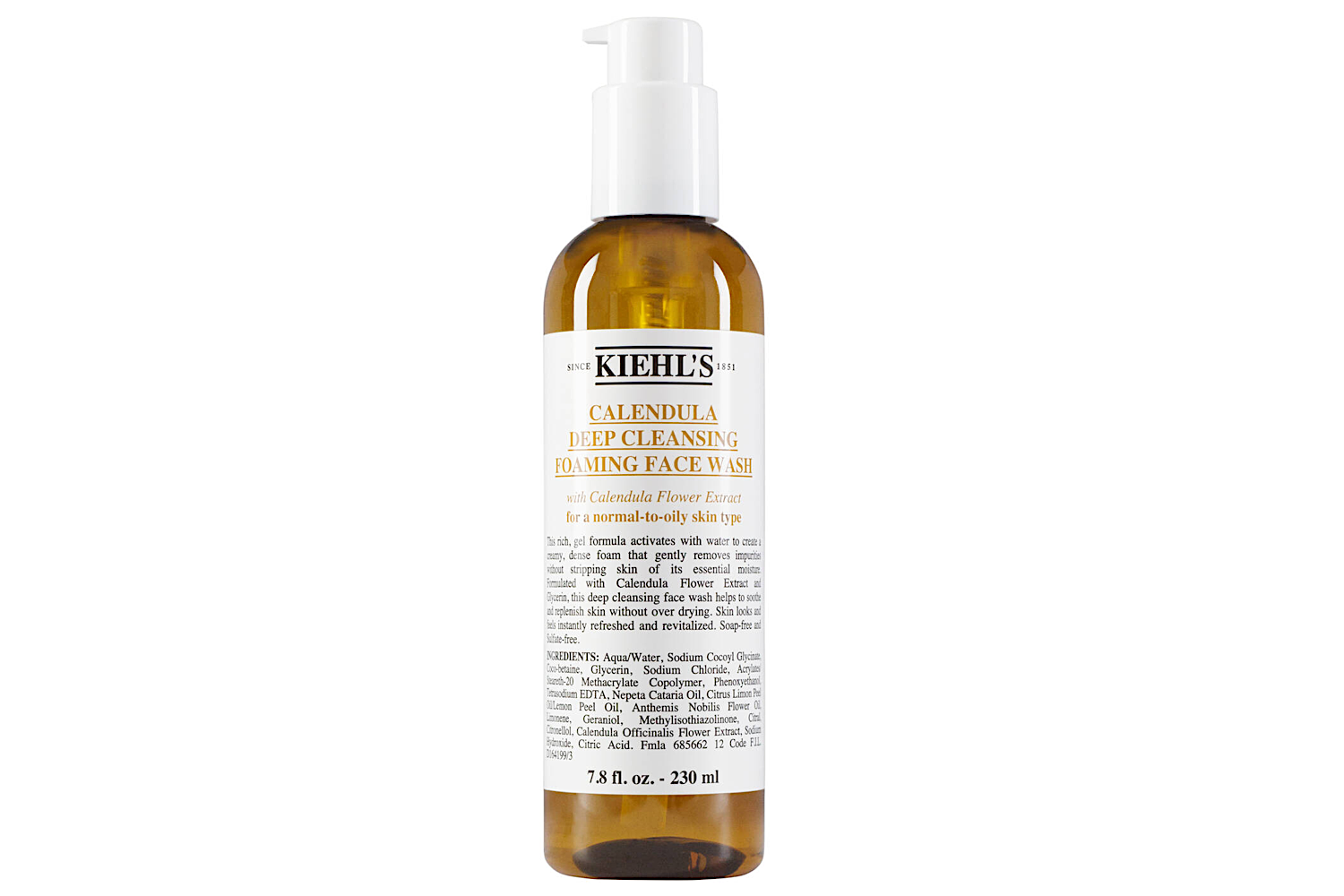 Calendula Deep Cleansing Foaming Face Wash - by Kiehl's - WORDS on BEAUTY